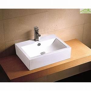 Vasque À Poser Rectangulaire : vasque rectangulaire poser sur un meuble de bain 33 ~ Melissatoandfro.com Idées de Décoration