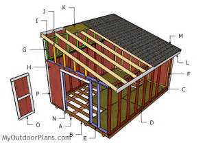6x8 Rubbermaid Storage Shed by 12x16 Lean To Shed Roof Plans Myoutdoorplans Free