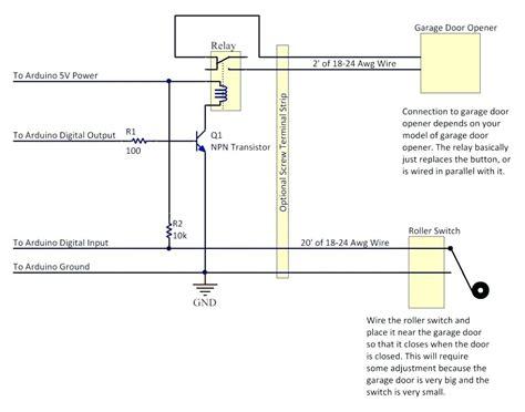 diagram garage door sensor wiring diagram