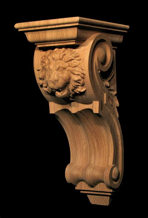 Carved Wood Corbels by Corbel Roaring Carved Wood