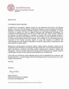 Letter of remendation Professor Harry Kaiser  Cornell University
