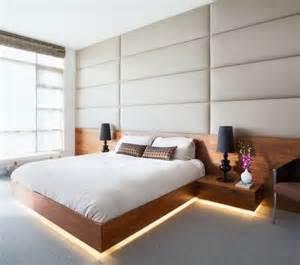 wandbilder design indirekte beleuchtung im schlafzimmer schöne ideen