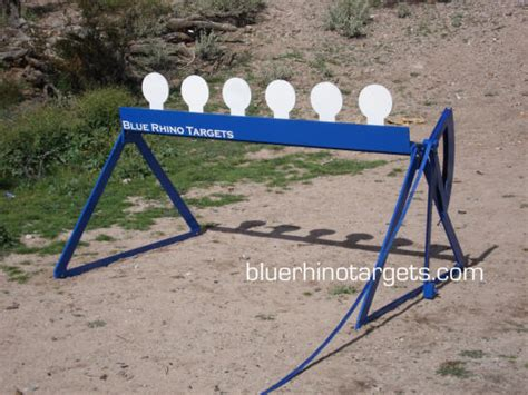 blue rhino steel shooting targets knockdown plate rack