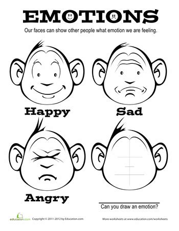 emotions coloring page worksheets coloring pages