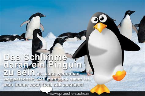 Lustiger Spruch Pinguin  Wenn Pinguine Sauer Sind