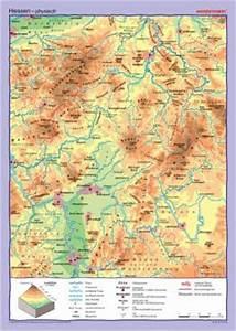 Deutschland Physische Karte : deutschland bundesl nder hessen physisch politisch wandkarte deutschland ~ Watch28wear.com Haus und Dekorationen