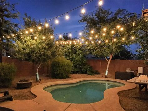 Backyard Lights by Welcome Warmer Weather With These Patio String Light Ideas