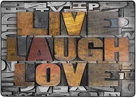 amazoncom  laugh love print area rug