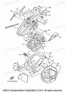 Yamaha Waverunner 2010 Oem Parts Diagram For Engine Hatch