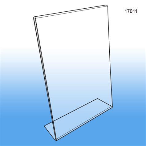 8 5 x 11 acrylic sign holder for table tops 8 5 quot x 11 quot acrylic slant back vertical sign holder