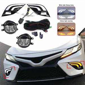 Led Drlturn Signal Lamp Fog Light Wiring Kit Refit For Toyota Camry Se Xse 2018