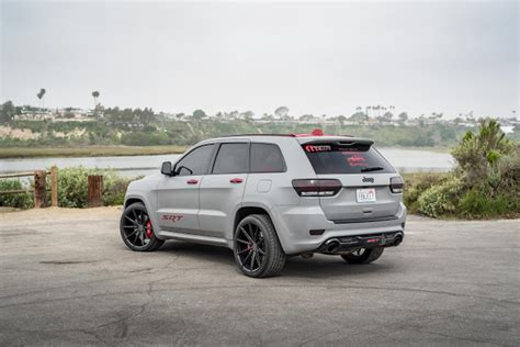matte grey jeep grand 2014 jeep grand cherokee srt8 fitted with 22 inch bd11 s