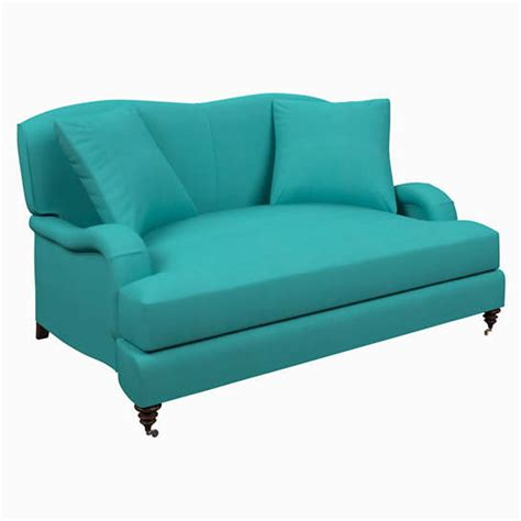 turquoise sofas loveseats estate linen turquoise litchfield loveseat furniture