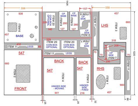 plans arcade cabinet plans metric  woodcraft