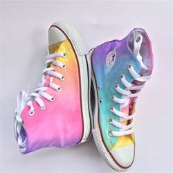 home painting color ideas interior pastel rainbow high top converse tie dye idolza