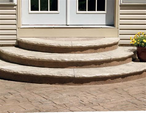 how to planning pouring and finishing half round concrete steps concrete decor