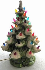 vintage atlantic mold ceramic christmas tree