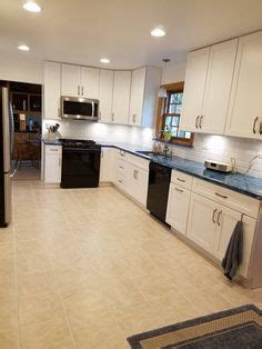 arctic ice subway tile backsplash  cambria praa sands