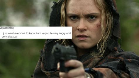 The 100 Memes - mine the 100 eliza taylor the100edit clarke griffin the100daily text post meme clexa the 100