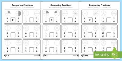 Comparing Fractions Worksheet  Fractions, Comparing Fractions, Fractions