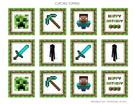 awesome  minecraft party printables