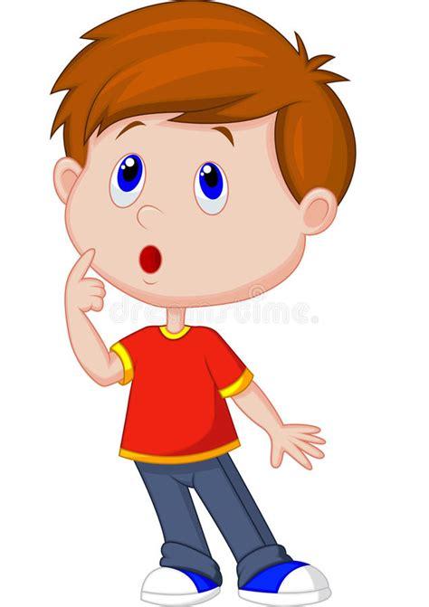 thinking clipart free boy thinking stock vector illustration of