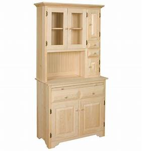 AMISH Unfinished Solid Pine ~ HOOSIER China Pantry Storage