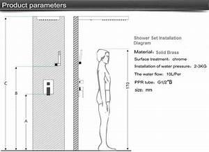 Fontana Waterfall Showerwith Body Massage Spray Jets