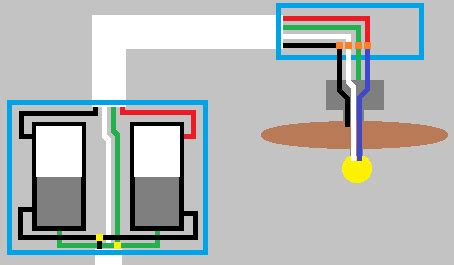 Wiring Ceiling Fan With Black White Red Green