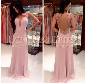 Aliexpress.com : Buy Pink Prom Dress Sexy Scoop Neck See ...