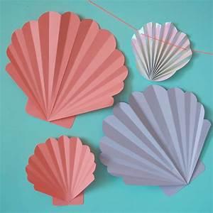 Pliage En Papier : des coquillages en papier rose caramelle carnet d ~ Melissatoandfro.com Idées de Décoration