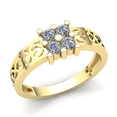 jewelwesell genuine 0 15ct round cut diamond mens modern