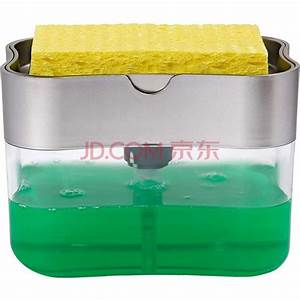 1pc Automatic Soap Dispenser With Cleaning Sponge Liquid