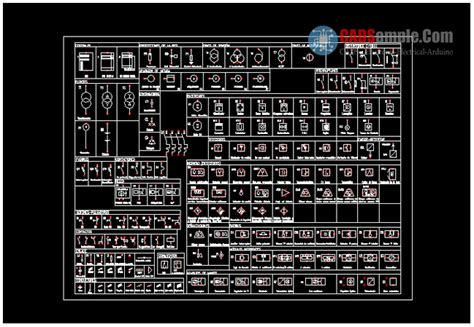 symbols for electrical circuits autocad dwg 187 cadsle