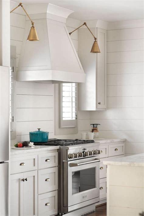 Shiplap Backsplash by Shiplap Kitchen White Kitchen With Shiplap Backsplash And