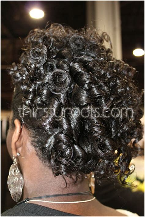 relaxed hairstyles updo  french roll  curls