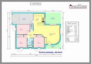 plan maison 80m2 3 chambres madame ki With plan maison 80m2 3 chambres