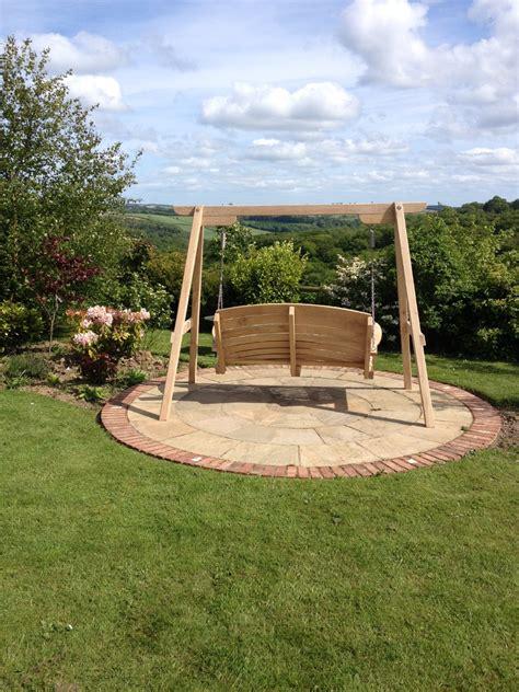 Garden Swing Seat Or Bench Sitting Spiritually