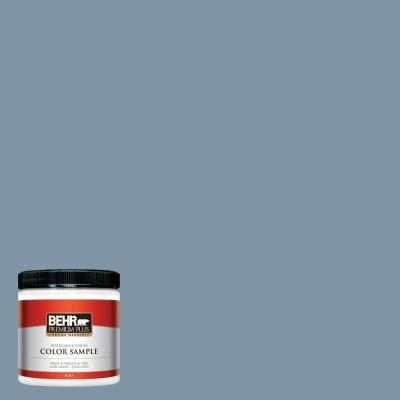 behr premium plus 8 oz 560f 5 bleached denim interior exterior paint sle 560f 5pp the