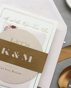 kristen michael39s gold rose gold blush wedding With michaels gold wedding invitations
