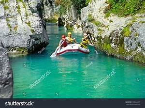 Soca River, Slovenia - July 8: White Water Rafting On The ...