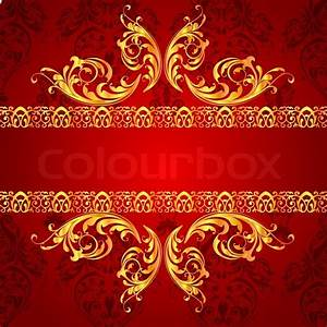 Illustration of classical floral background Stock Vector