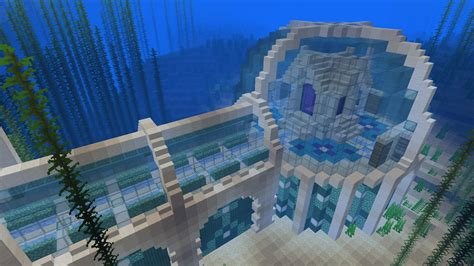 wip underwater stronghold base minecraft