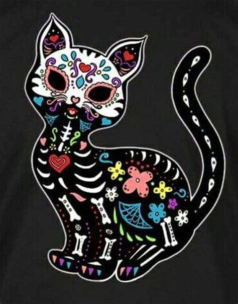 Best 25+ Sugar Skull Cat Ideas On Pinterest