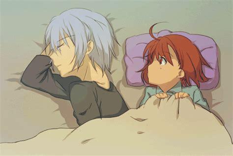 anime gif sleep anime boy and on