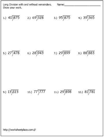long division worksheet 1 homeschool pinterest long