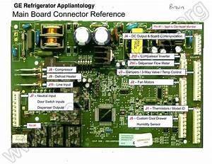 Ge Refrigerator Muthaboard - Connector Reference Pictorial View