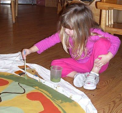 making  canvas floor mat group work  montessori