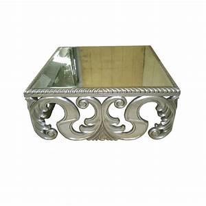 Table Basse Miroir : table basse argent e baroque miroir destockage grossiste ~ Melissatoandfro.com Idées de Décoration