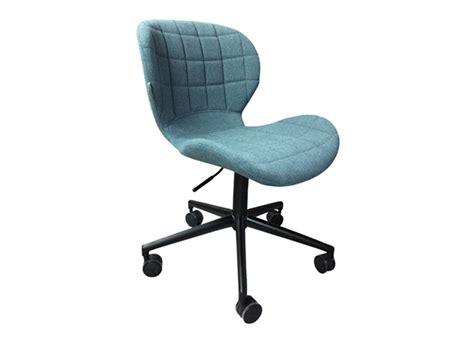 chaise de bureau bleu chaise bureau tissu achatdesign
